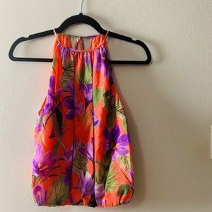 Alice + Olivia Sleeveless Floral Top Size M NWT
